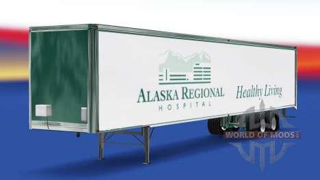 La peau de l'Alaska à l'Hôpital Régional sur la  pour American Truck Simulator
