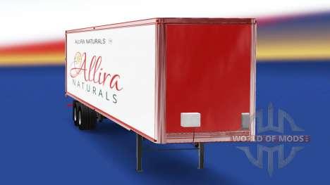 Haut Allira, die auf dem Anhänger für American Truck Simulator
