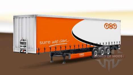 Haut TNT auf einen Vorhang semi-trailer für Euro Truck Simulator 2