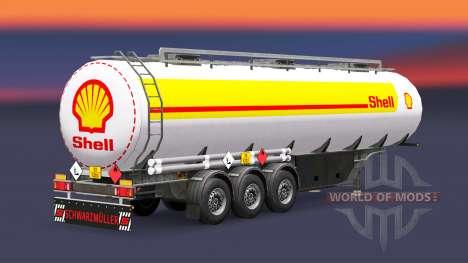 La peau Shell pour le carburant de la remorque pour Euro Truck Simulator 2