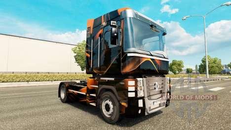 Matt-Orange skin für Renault-LKW für Euro Truck Simulator 2