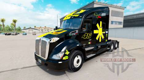 Haut Valentino Rossi auf einem Kenworth-Zugmasch für American Truck Simulator