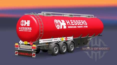La peau H. Essers carburant semi-remorque pour Euro Truck Simulator 2