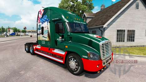 Скин de l'autoroute INTERSTATE 80 Ans на Freightliner Cascadia pour American Truck Simulator