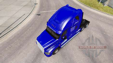 Скин Transporteur National на Freightliner Casca pour American Truck Simulator