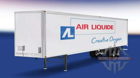 Peau Air Liquide sur la remorque pour American Truck Simulator