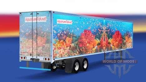 De la peau de Poisson v3.0 sur la semi-remorque pour American Truck Simulator