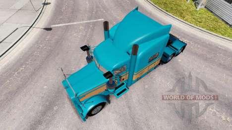 Скин Johnson Bétail LLC на Peterbilt 389 pour American Truck Simulator