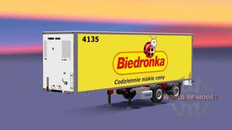 Semitrailer refrigerator Couronne Biedronka pour Euro Truck Simulator 2
