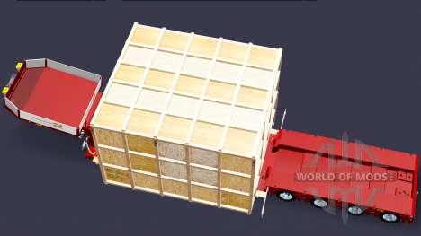Low sweep mit der Ware in eine hölzerne Kiste für Euro Truck Simulator 2