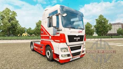 La peau sur TruckSim tracteur HOMME pour Euro Truck Simulator 2