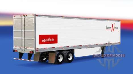 Haut Transport N Service v2.0 auf dem semi-trail für American Truck Simulator