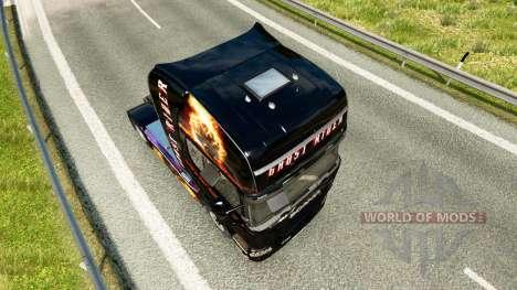 Ghost Rider skin für Scania-LKW für Euro Truck Simulator 2
