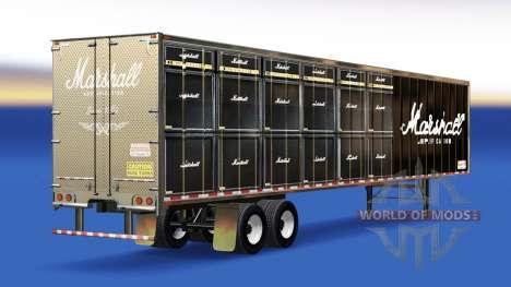 Haut Marshall Amplification auf dem Anhänger für American Truck Simulator