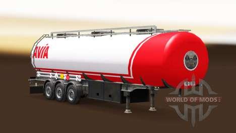 La peau Avia sur le carburant semi-remorque pour Euro Truck Simulator 2