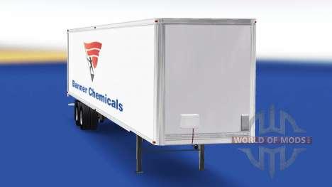 Haut-Banner Chemikalien auf den trailer für American Truck Simulator