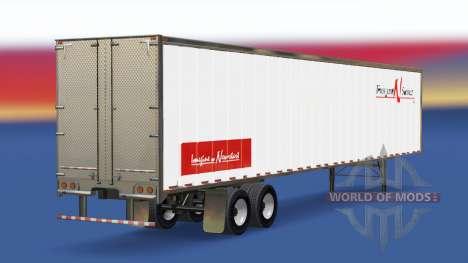 Haut Transport N Service auf dem Anhänger für American Truck Simulator