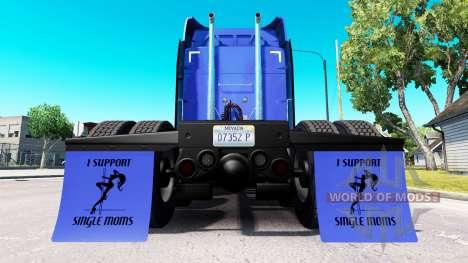 Kotflügel I Support Single Moms v1.8 für American Truck Simulator