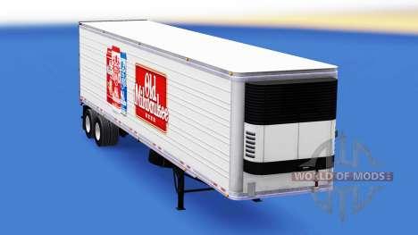 Haut Alte Milwaukee auf dem Anhänger für American Truck Simulator