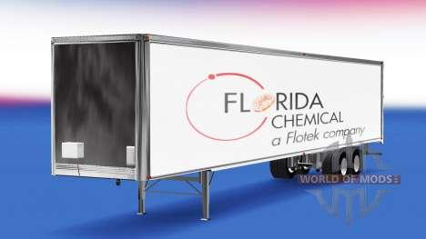 La floride Chimique de la peau sur la remorque pour American Truck Simulator