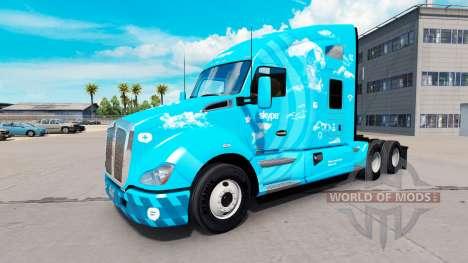 Haut Skype auf einem Kenworth-Zugmaschine für American Truck Simulator