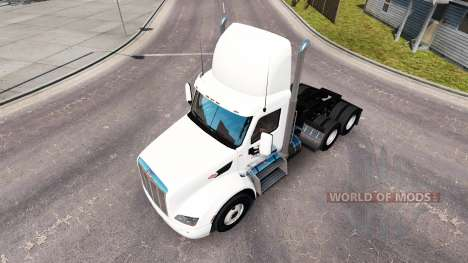 La peau Ace Boissons sur le tracteur Peterbilt pour American Truck Simulator