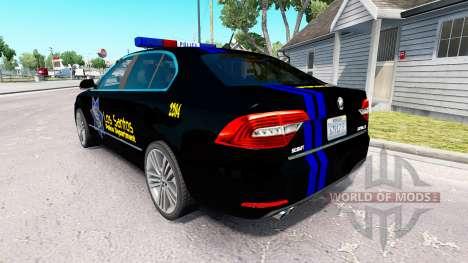 LSPD de la peau pour la Skoda Superb pour American Truck Simulator