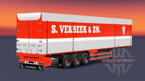Bodex benne semi-remorque S. Verbeek & ZN. pour Euro Truck Simulator 2