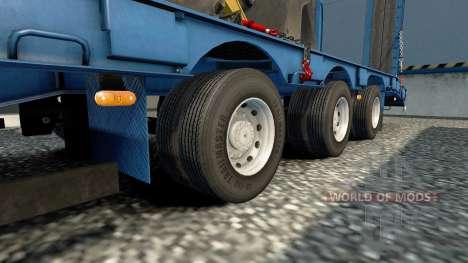 Doubles roues pour remorques pour Euro Truck Simulator 2