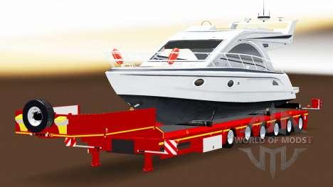 Bas de balayage avec une cargaison de yachts pour American Truck Simulator