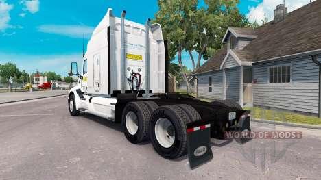 La peau sur J. B. Hunt camions Peterbilt et Volv pour American Truck Simulator
