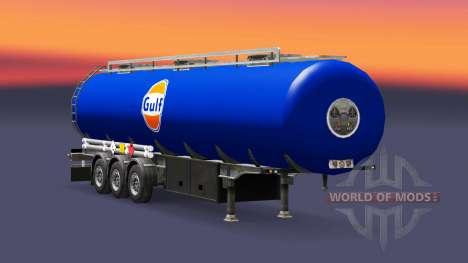 Haut Golf-Kraftstoff-semi-trailer für Euro Truck Simulator 2