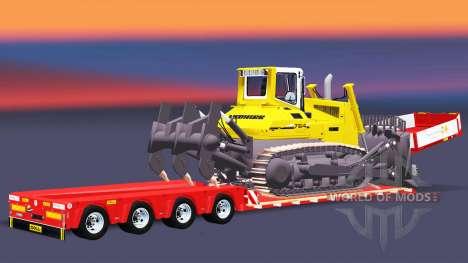 Tiefbett Schleppnetz-Puppe mit einer Last von bu für Euro Truck Simulator 2