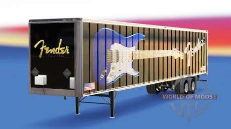Haut Fender-Gitarren, die auf dem Anhänger für American Truck Simulator