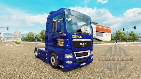 Haut Gefco für Traktor MAN für Euro Truck Simulator 2