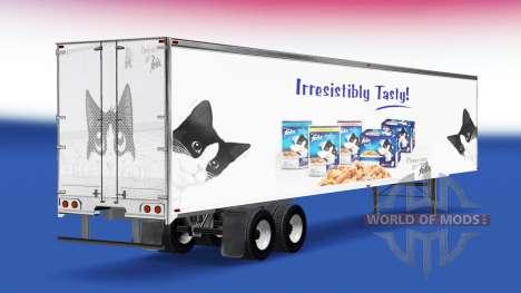 Haut, die Felix auf dem Anhänger für American Truck Simulator