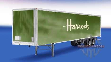 La peau Harrods sur la remorque pour American Truck Simulator