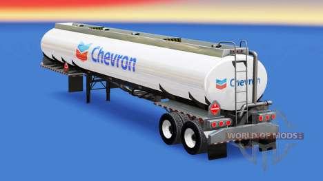 La peau de Chevron dans le réservoir de carburan pour American Truck Simulator
