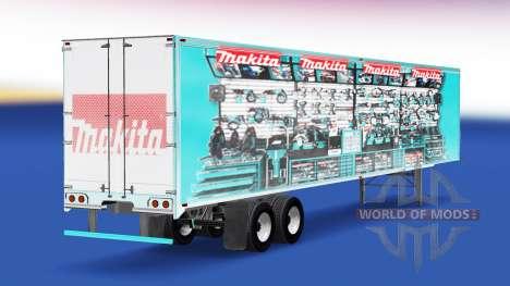La peau Makita v2.0 sur la semi-remorque pour American Truck Simulator