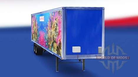 Haut Fisch v4.0 auf dem semi-trailer für American Truck Simulator