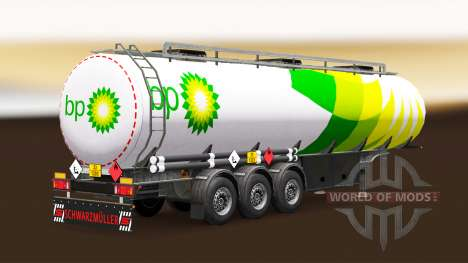 La peau BP carburant semi-remorque pour Euro Truck Simulator 2