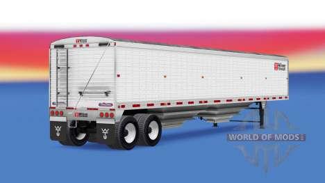 Tipper semi-trailer Wilson für American Truck Simulator