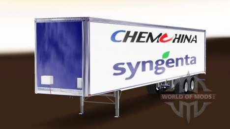 La peau ChemChina Et Syngenta sur la remorque pour American Truck Simulator