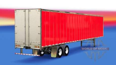 Peau Rouge sur la remorque pour American Truck Simulator