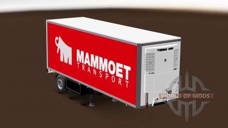 Semitrailer refrigerator Couronne Mammoet pour Euro Truck Simulator 2