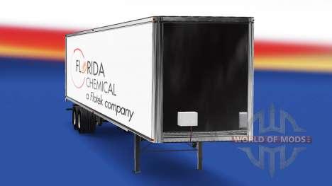 Florida Chemische Haut auf dem Anhänger für American Truck Simulator