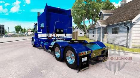 Скин Jack C. Moss Trucking Inc. на Peterbilt 389 pour American Truck Simulator