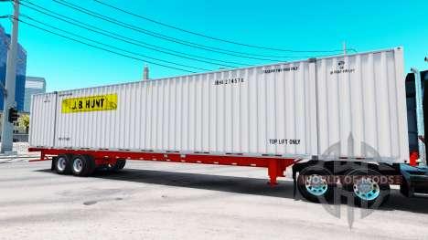 Auflieger container-J. B. Hunt für American Truck Simulator