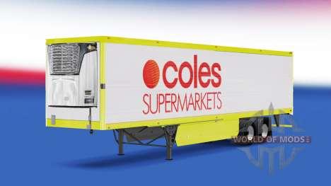 Haut Coles Supermarkt auf dem Anhänger für American Truck Simulator