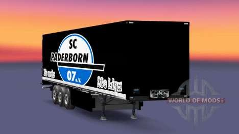 La peau SC Paderborn 07 sur semi pour Euro Truck Simulator 2